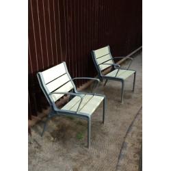 Tao - Stuhlbank aus Holz/Metall