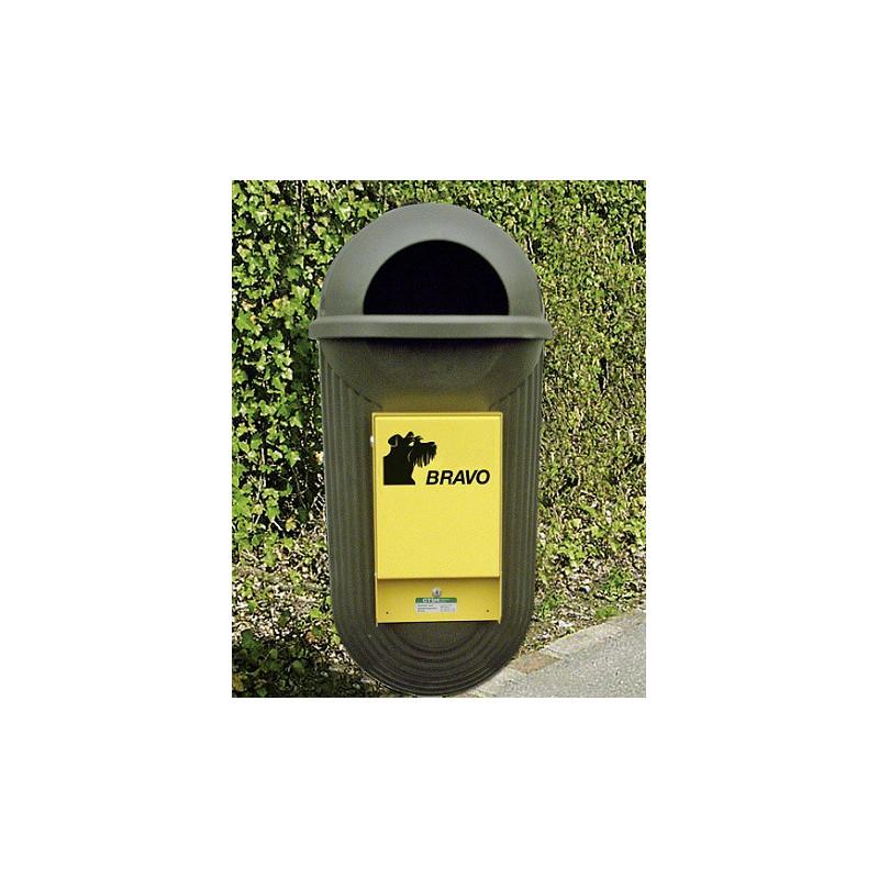 BRAVO Street - distributeur avec réceptacle à ordures, vert