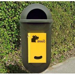 BRAVO Street - Smily distributeur avec réceptacle à ordures, vert