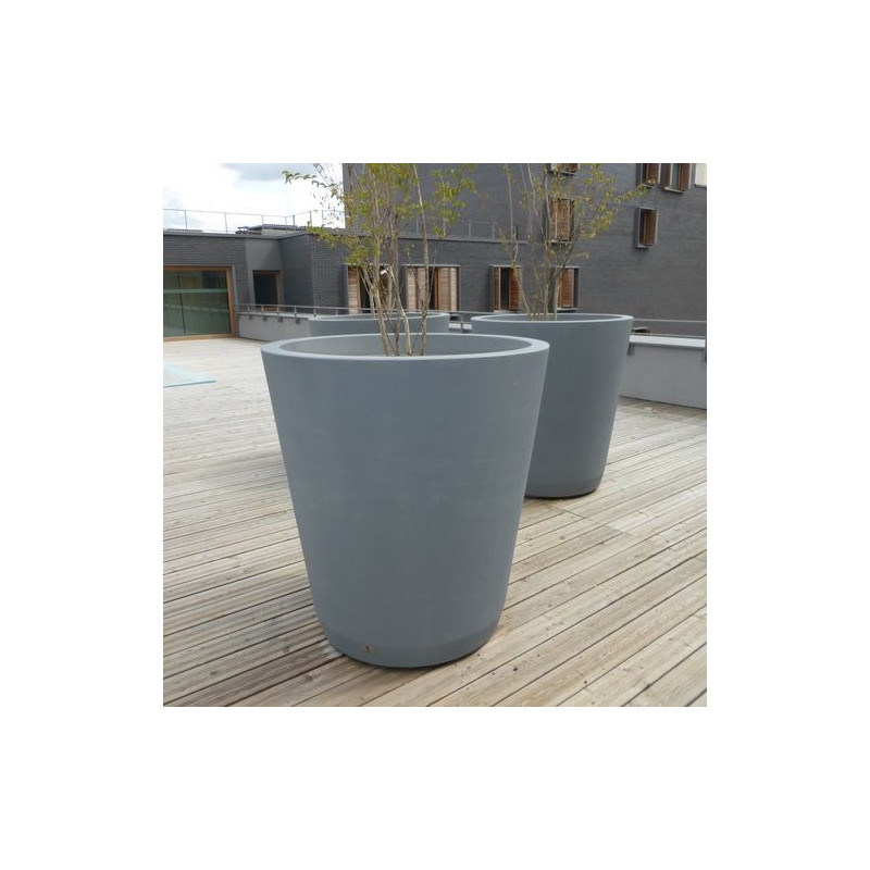 Cónica - jardinière en béton (ronde)