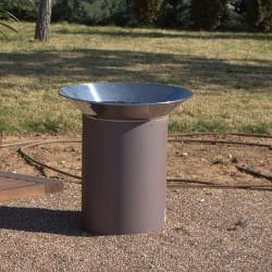 Paperegena -poubelle en acier inoxydable
